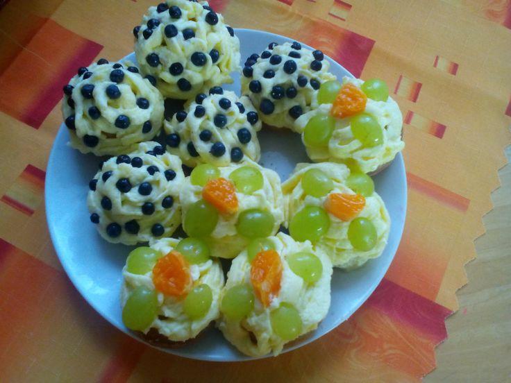 Muffiny s borůvkami a jiným ovocem