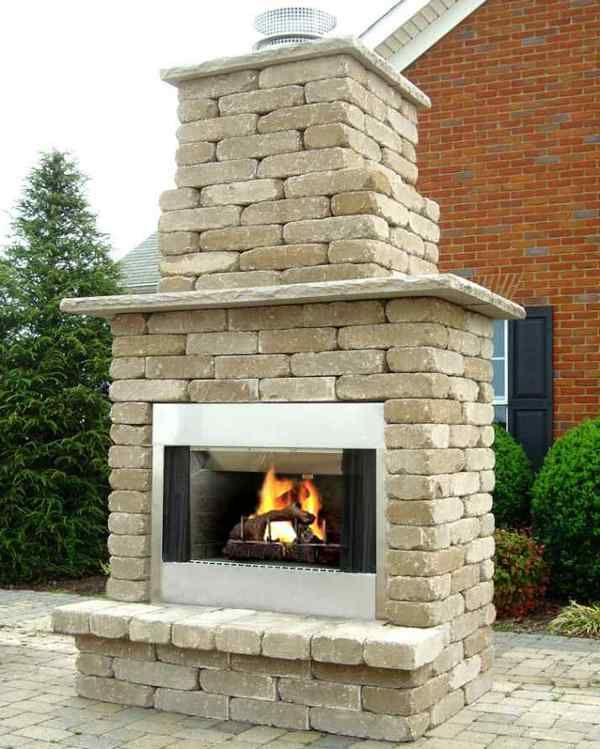 diy outdoor wood burning fireplace