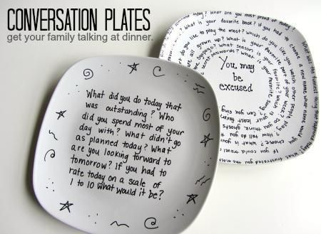 Making family time more fun - including hiking ideas, conversation plates +