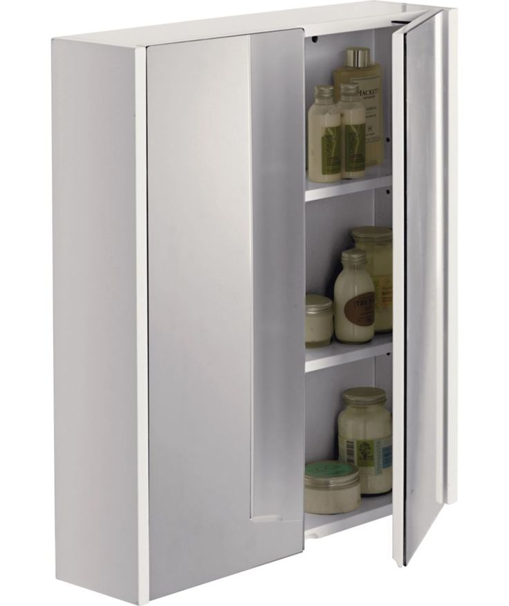 Buy Double Mirrored Bathroom Cabinet   White At Argos.co.uk   Your Online