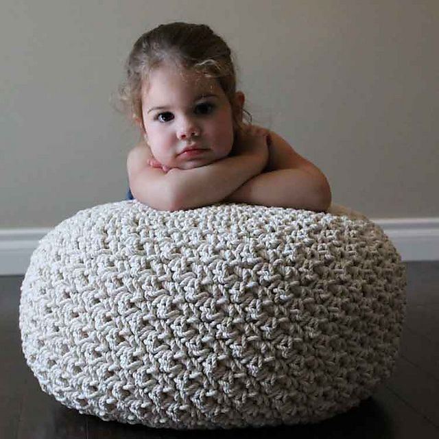 Ravelry: Cotton Rope Pouf pattern by Tara Schreyer