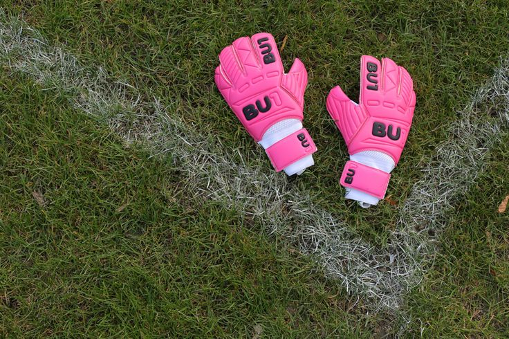 BU1 All Pink Roll Finger Football Goalkeeper Gloves