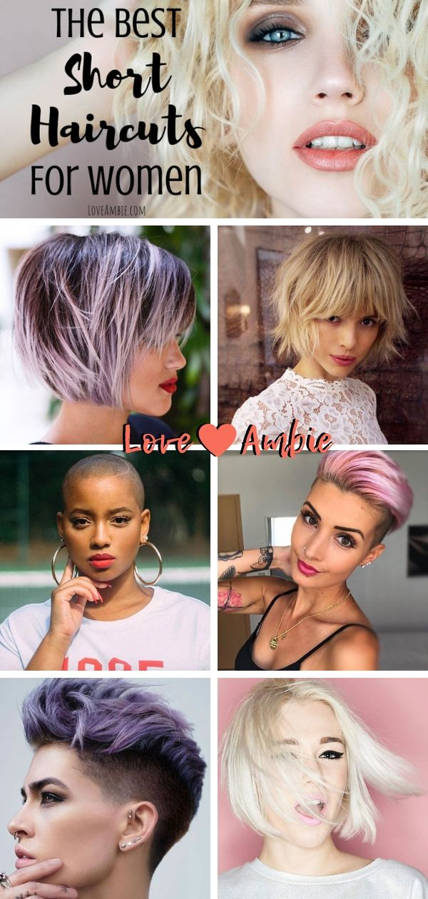 The Best Short Haircuts For Women Hairstyles Bob Pixie Layered Buzz Cut Edgy Bangs Faux Hawk Fine