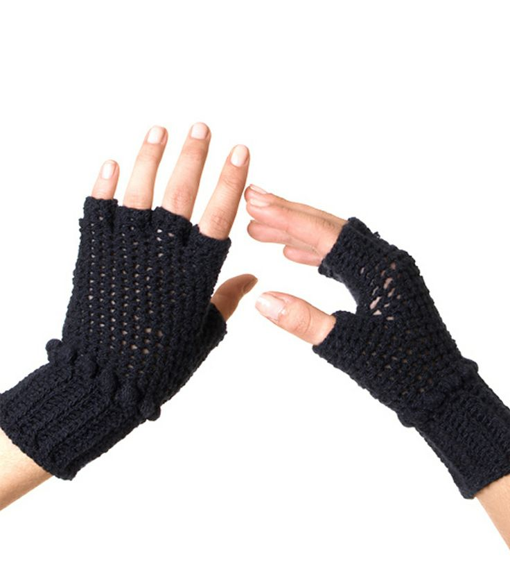 Crocheted Fingerless Cotton Gloves by Miakoda on Scoutmob Shoppe. These hand-crocheted, fingerless gloves lend just the right amount of warmth (and style) for those transitional seasons.