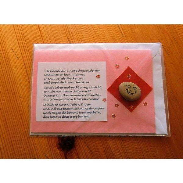 Grußkarten - Ich schenk dir einen Schmunzelstein von Eigene Herstellung (ID 16652096)