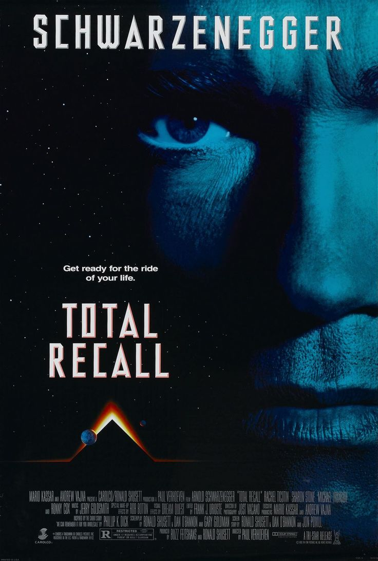 """Total Recall"" > 1990 > Directed by: Paul Verhoeven > Action / Adventure / Science Fiction / Sci-Fi Action / Space Adventure / Tech Noir"