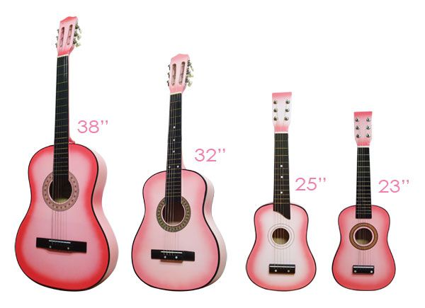 guitar size guide 38 3 4 size pink music pinterest kid the o 39 jays and guitars for kids. Black Bedroom Furniture Sets. Home Design Ideas