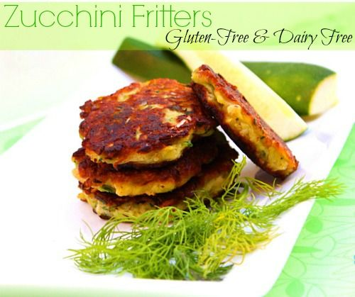 Gluten-Free Zucchini Fritters... So easy to make and a perfect way to get the kids (or any non-zucchini lovers) to eat a ton of zucchini! :)