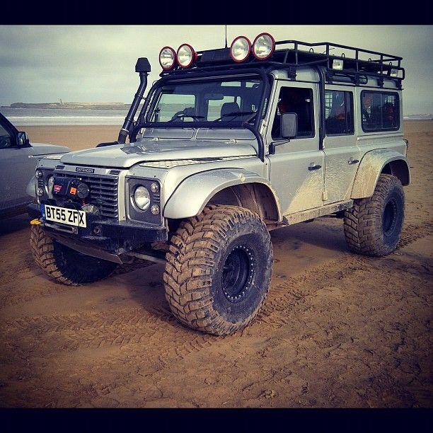 beach mobile.  | #LandRover #Defender