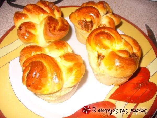 Muffins σοκολάτας με ζύμη μπριός #sintagespareas