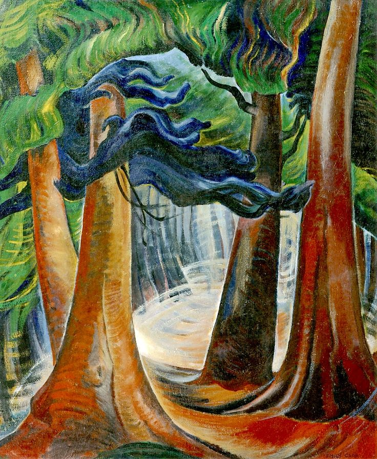 Among the Firs (oil on canvas) 1930-1940 Emily Carr