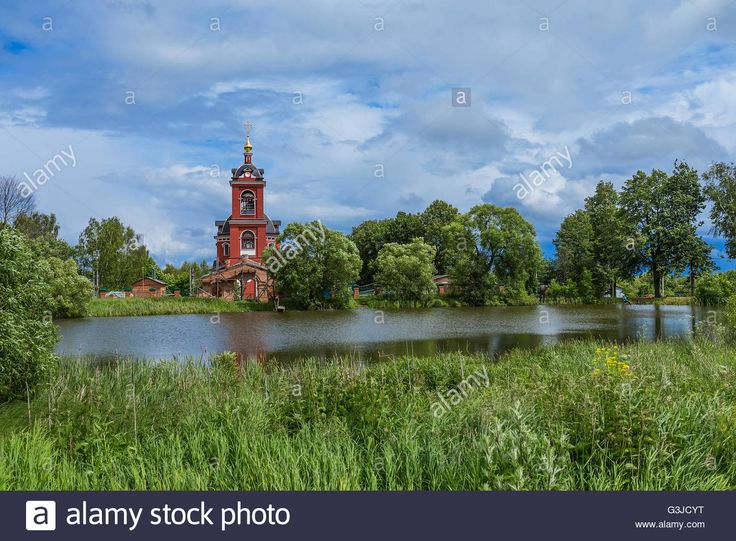 Download this stock image: Boris and Gleb temple. Kurtnikovo, Russia - G3JCYT from Alamy's library of millions of high resolution stock photos, illustrations and vectors.