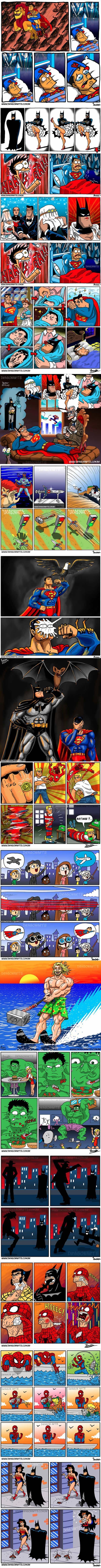 The Funniest Superhero Comics Collection (Part 2) asi estoy yo, como la amazona que lucha x la justicia y la verdad... no x lo mamá dolores, sino por las mugres cucarachas!!!