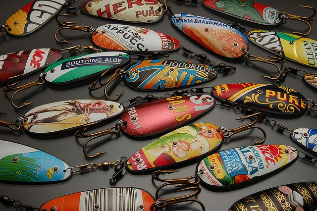 recycle- lures for fishing. Thats awesome! I'm sure they work too!