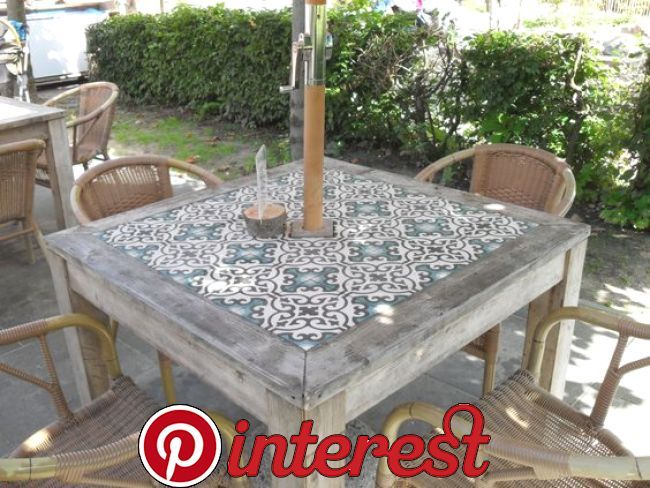 Ladrilhos 28 Diy Patio Furniture Tile Tables Furniture Diy