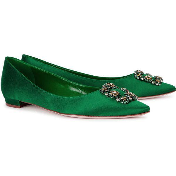 Manolo Blahnik Hangisi 10 Emerald Green