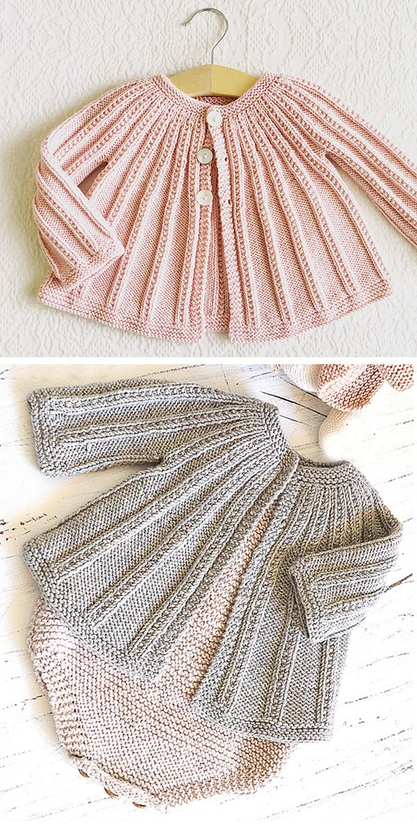 Knitting Pattern for Easy Baby Cardigan and Romper