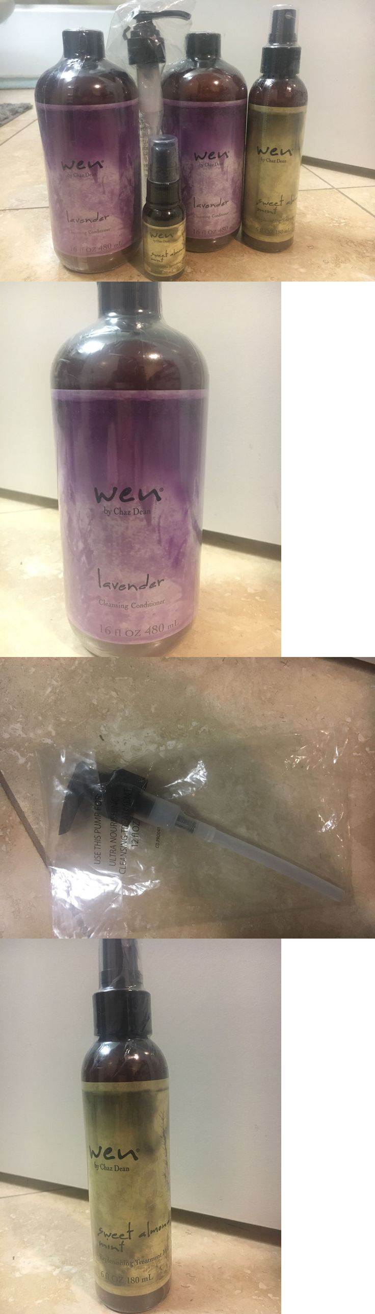 Sets and Kits: Wen Hair Kit-2-16Oz. Lavender Shampoo,1Pump, 6Oz. Replenishing Mist, And 1Oz.Serum -> BUY IT NOW ONLY: $55 on eBay!