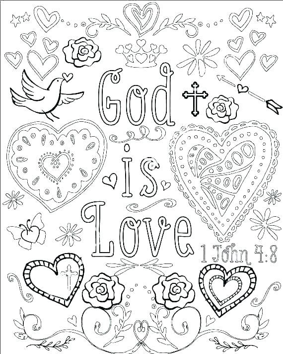 Printable Coloring Pages Religious Design
