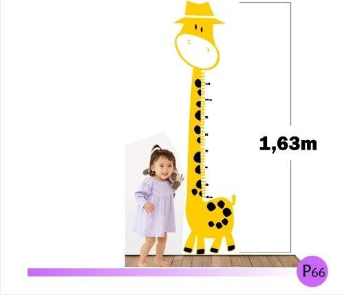 Adesivo Régua de Medir O Tamanho Seu Filho - Girafa