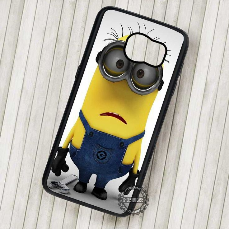 Minion Despicable Me Yellow Funny Cartoon - Samsung Galaxy S7 S6 S5 Note 7 Cases & Covers