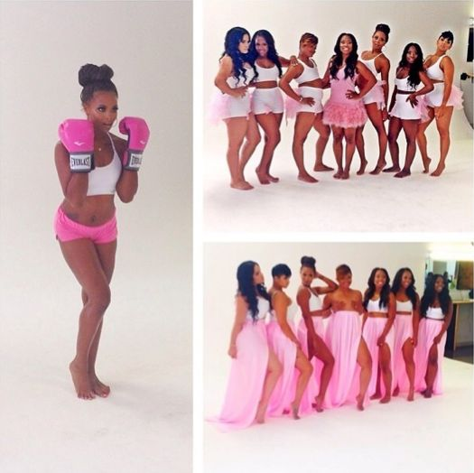 breast cancer photo shoot | ... , Emily B. & More Shoot PINK Campaign For Breast Cancer Awareness