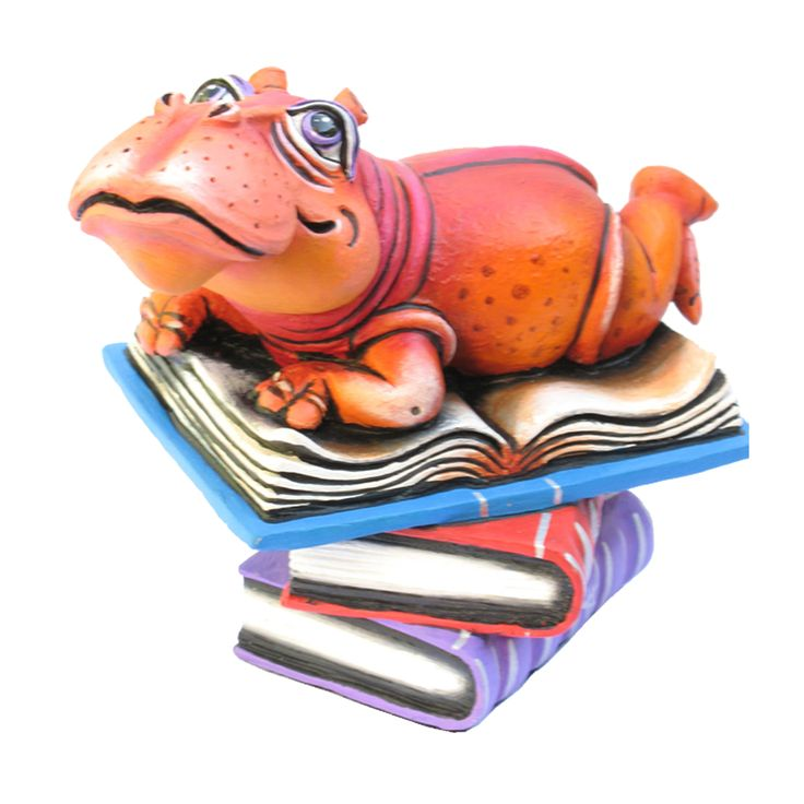 Mn003 hippo mini book signed limited edition mixed media