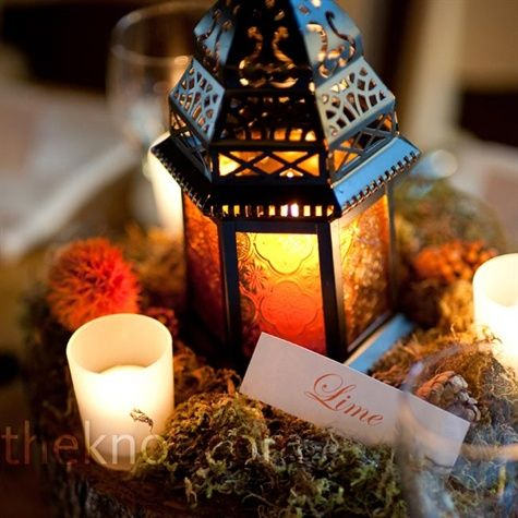 I like the look just not the colors: Receptions Centerpieces, Flower Centerpieces, Candles Centerpieces, Wedding Lanterns, Lanterns Centerpieces, Moroccan Lanterns, Candles Lanterns, Wedding Centerpieces, Fall Wedding