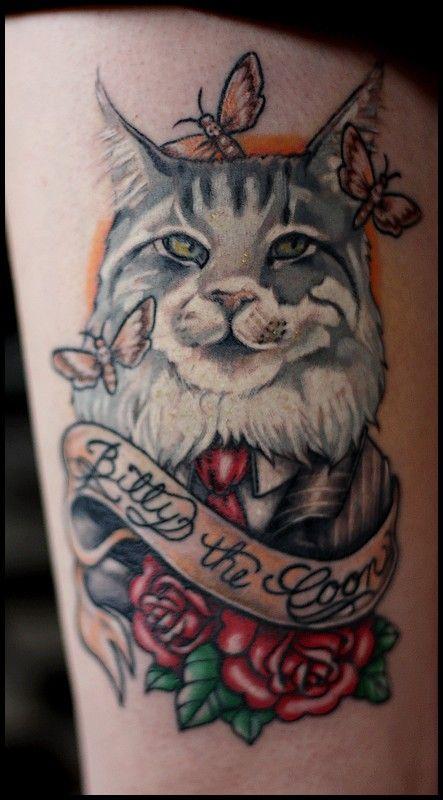 Billy, my Maine Coon cat, tattoo done by http://mmeheartattack.blogspot.fr/    ( Tattoo de Pauline ! )