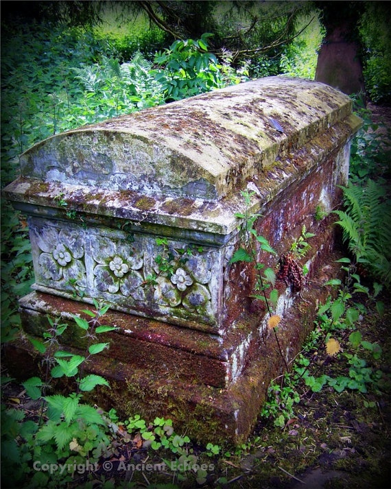 Gothic Art Cemetary Photo Graveyard Print by AncientEchoesArt, $16.00