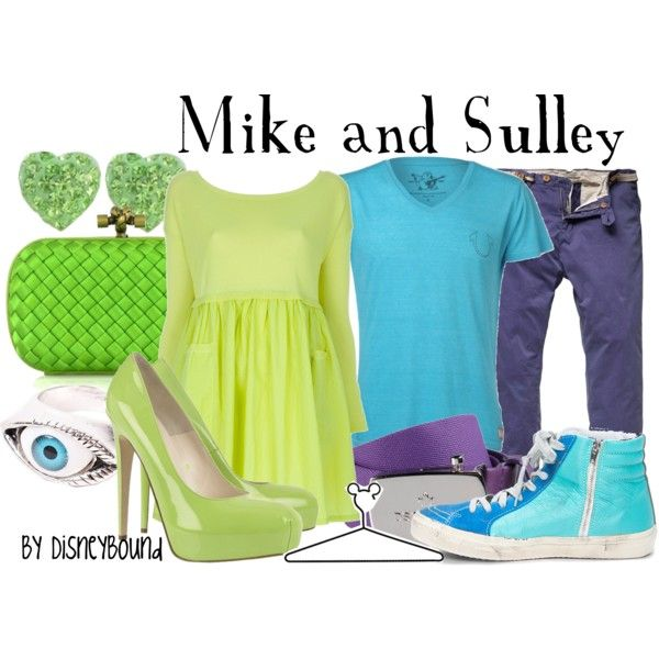 Mike and Sulley, created by lalakay on Polyvore