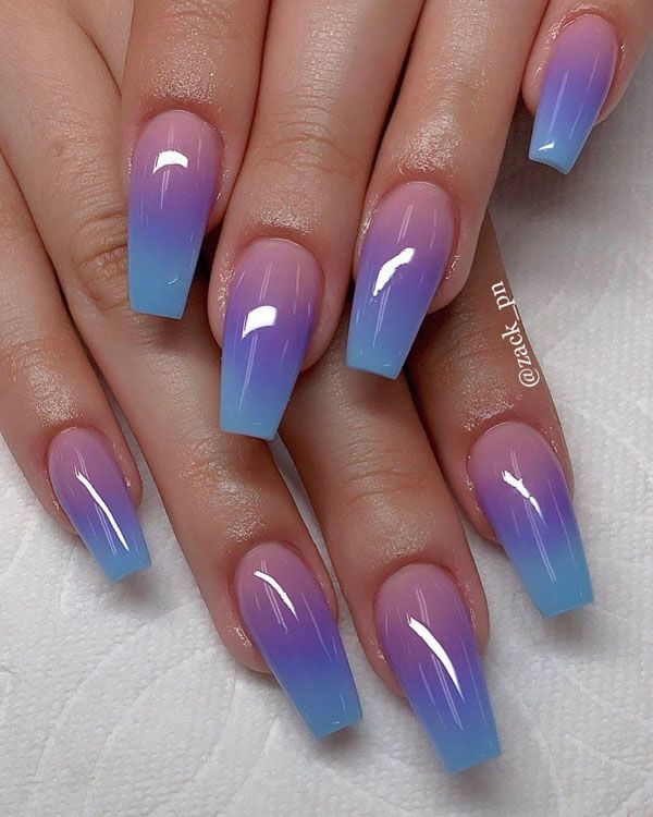 56 Trendy Ombre Nail Art Designs In 2020 Summer Acrylic Nails