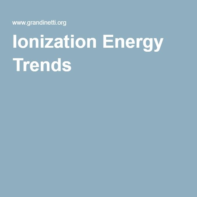 Ionization Energy Trends Chemistry Pinterest Ionization energy - best of periodic table activity trends