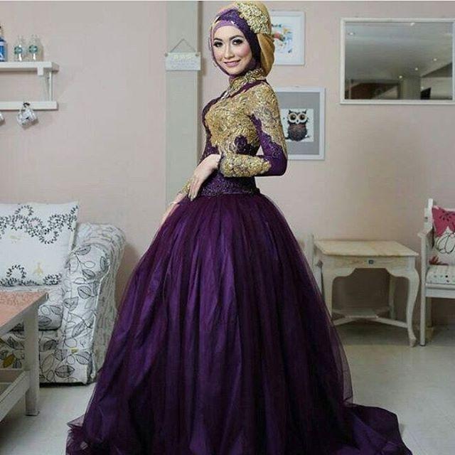 Model-Gaun-Pengantin-Muslim-Ungu.jpg (640×640)