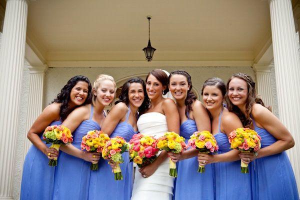 Real Weddings Christina Brent Cornflower Blue