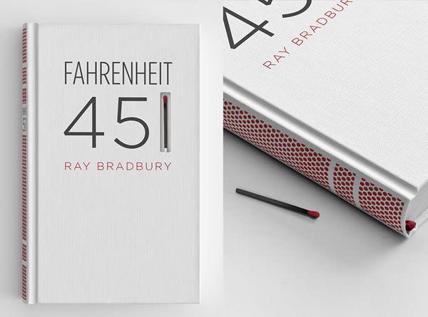 "Match Book Cover Art for Ray Bradbury's ""Fahrenheit 451″"