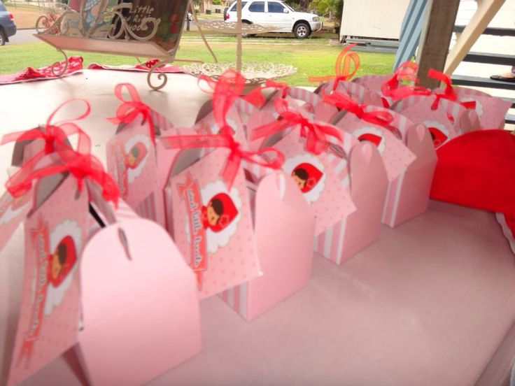 Favour bags - red riding hood birthday party