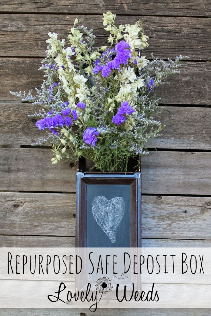 Repurposed Safe Deposit Box - Lovely Weeds