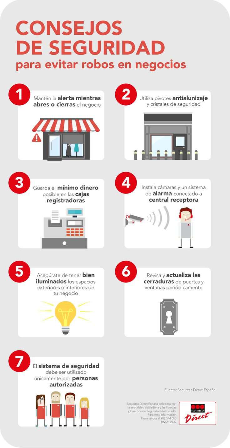 La #seguridad de tu negocio es importante. ¿Llevas a cabo ya estas prácticas para protegerlo? #SecuritasDirect #ViveTranquilo