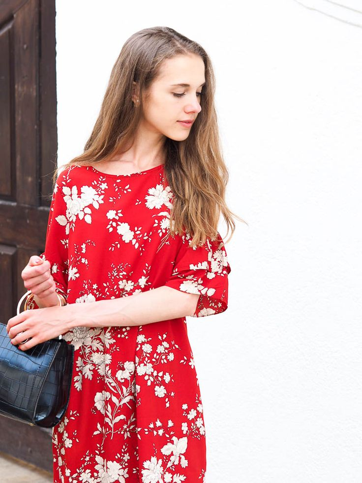 Introducing Colour to My Wardrobe with a Red Floral Dress