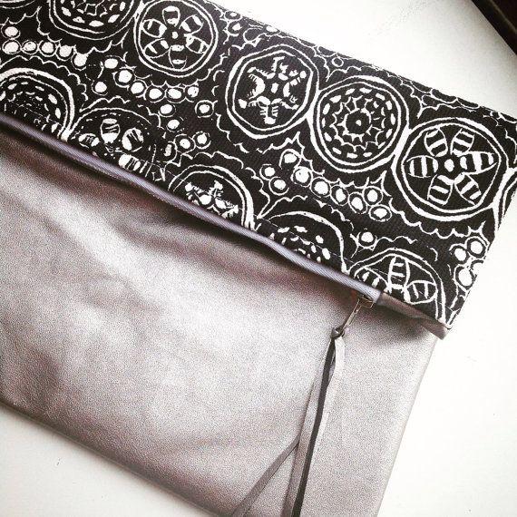 Marimekko clutch bag small bag  metalic evening bag by karlacola