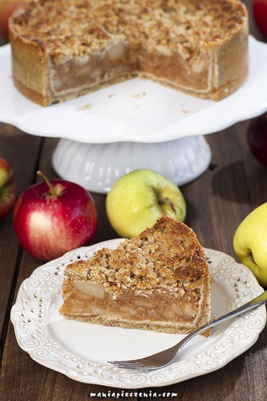 Zdrowa szarlotka (bez glutenu, nabiału, cukru) / Healthy Apple Pie ( no gluten, dairy, sugar)