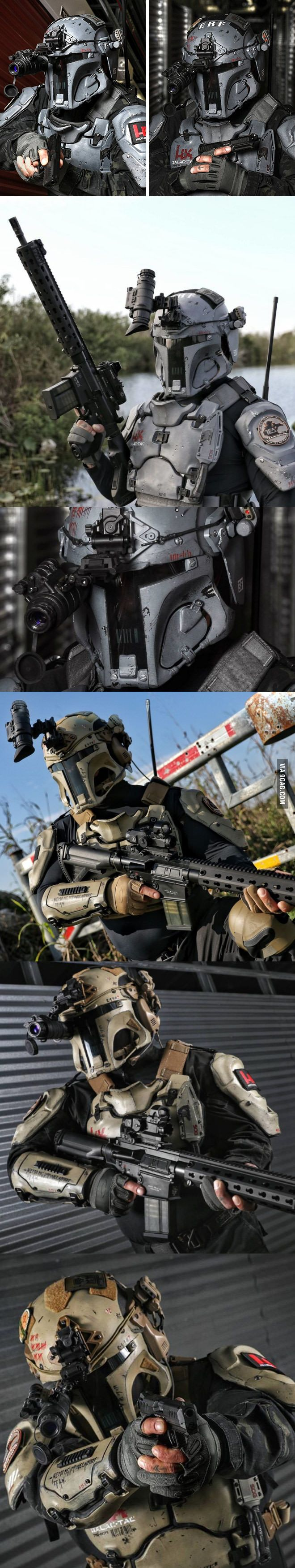 Ballistic armor company AR500 and H&K produce real life Mandalorian armour that is capable of stopping real bullets