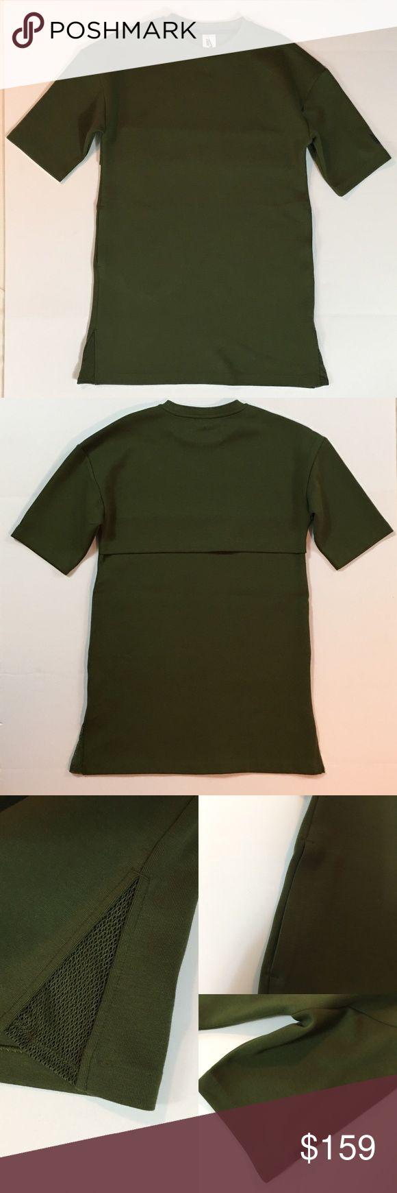 """NikeLab Essentials Tech Fleece Green Dress S NWT NikeLab Tech Fleece Mesh Military Green Dress SZ S NWT.Bust 39"""".Waist 39"""".Hip 40"""". Length 33"""" top of shoulder to bottom Nike Dresses"""