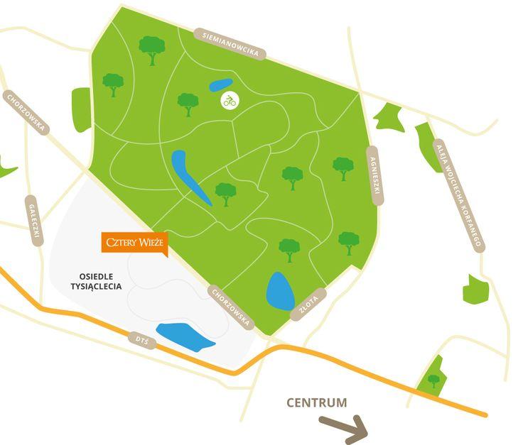 Cztery Wieże - mapka lokalizacji