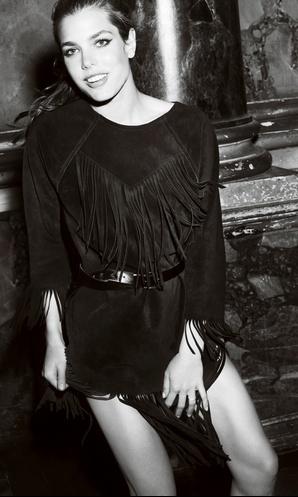 Charlotte Casiraghi in fringe