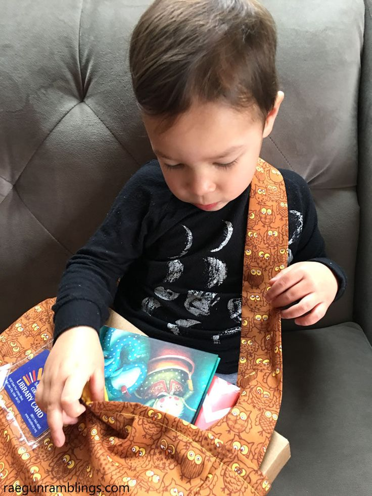 Picture book bag sewing tutorial
