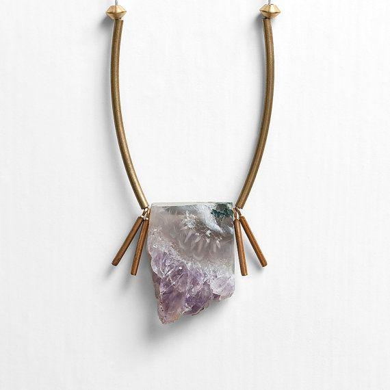 NEW  Brazilian Amethyst Stalactite Druzy Necklace by DeuceFashion, $32.00
