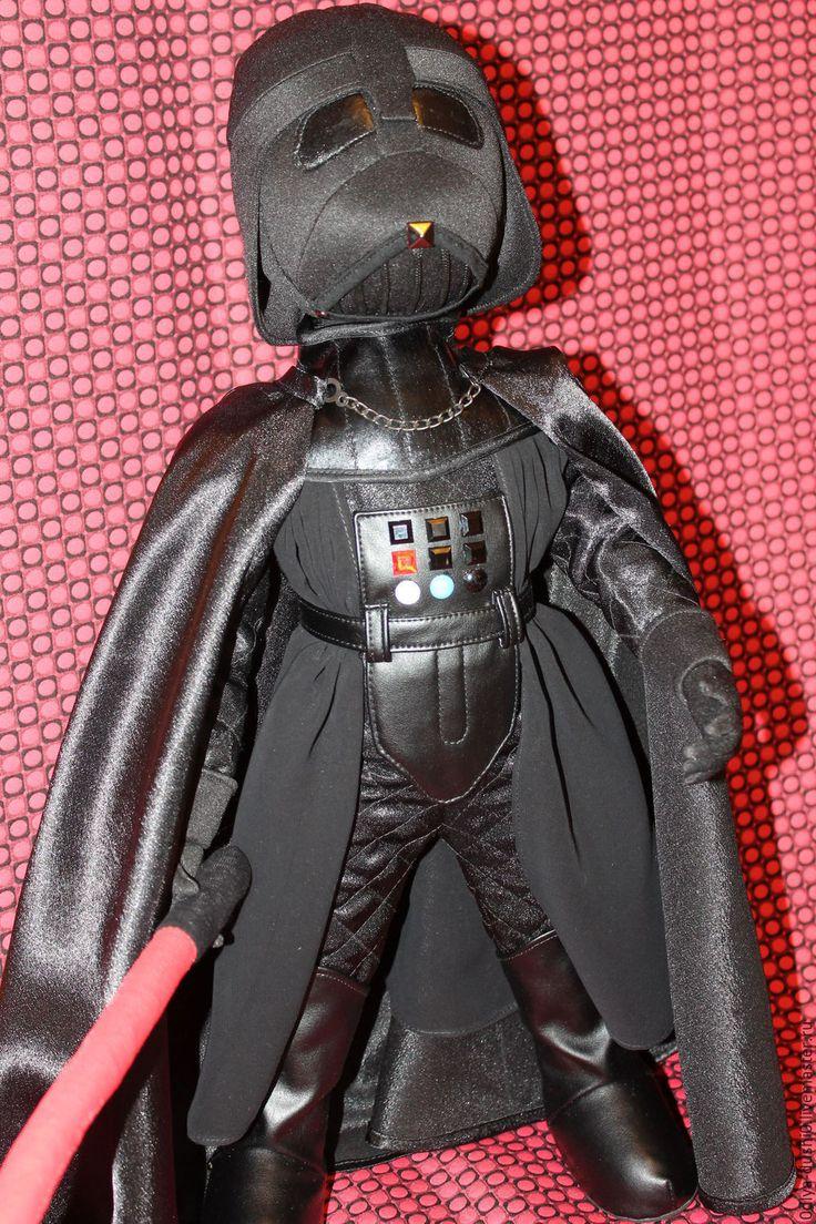 """Купить Авторская кукла """"Дарт Вэйдер"""" - черный, дарт вейдер, звездные войны, темный лорд"""