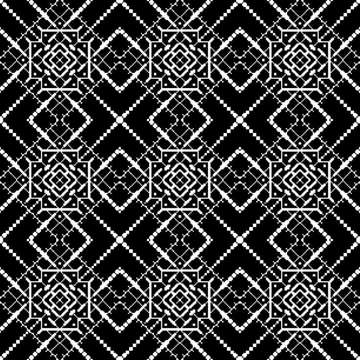 Пиксель арт. Паттерн. Орнамент